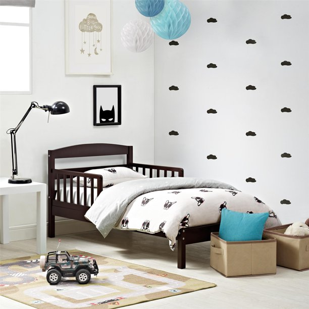 Baby Relax Jackson Toddler Bed, Kids Bedroom Furniture, Espresso