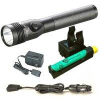 "Streamlight Stinger LED HL Rechargeable 800 Lumen Flashlight w/ 120/100 VAC / 12 VDC ""Piggyback"" Smart Charger - 75434"