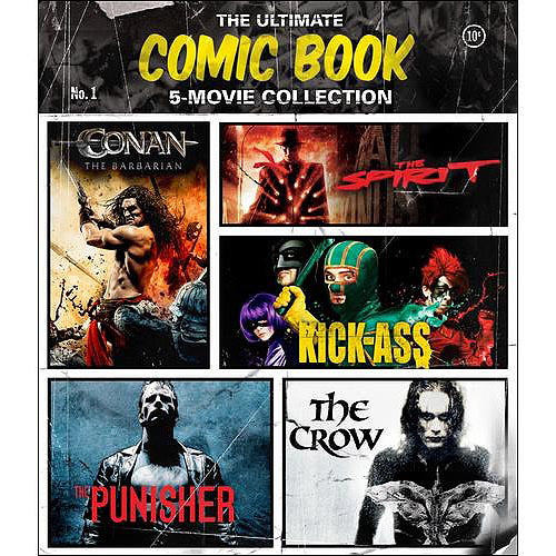 The Ultimate Comic Book 5-Movie Collection: The Crow / The Spirit / Conan The Barbarian / Kick-Ass / The Punisher (Blu-ray) (Widescreen)