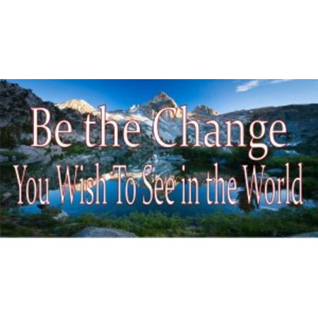 Be The Change You Wish To See In The World Photo License Plate