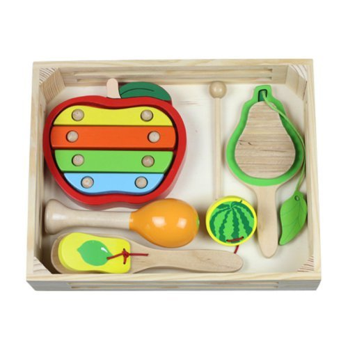 Discoveroo Fruit Music Wooden Percussion Playset