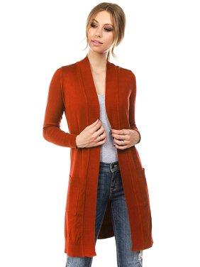 Product Image Women s Long Sleeve Sweater Duster Cardigan Rust Size Large c44619de8