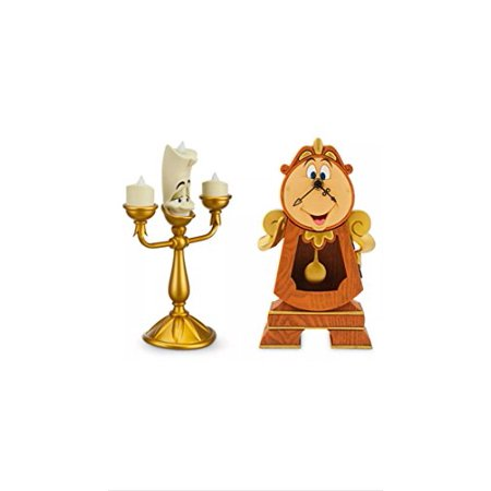 Disney Parks Cogsworth & Lumiere Clock & - Clock From Beauty And The Beast