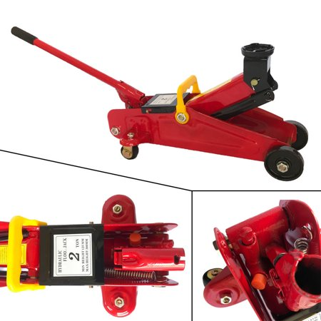 Zimtown Hydraulic Floor Jack Low Profile Car Auto Vehilce 2 Ton Lift Heavy Duty Steel