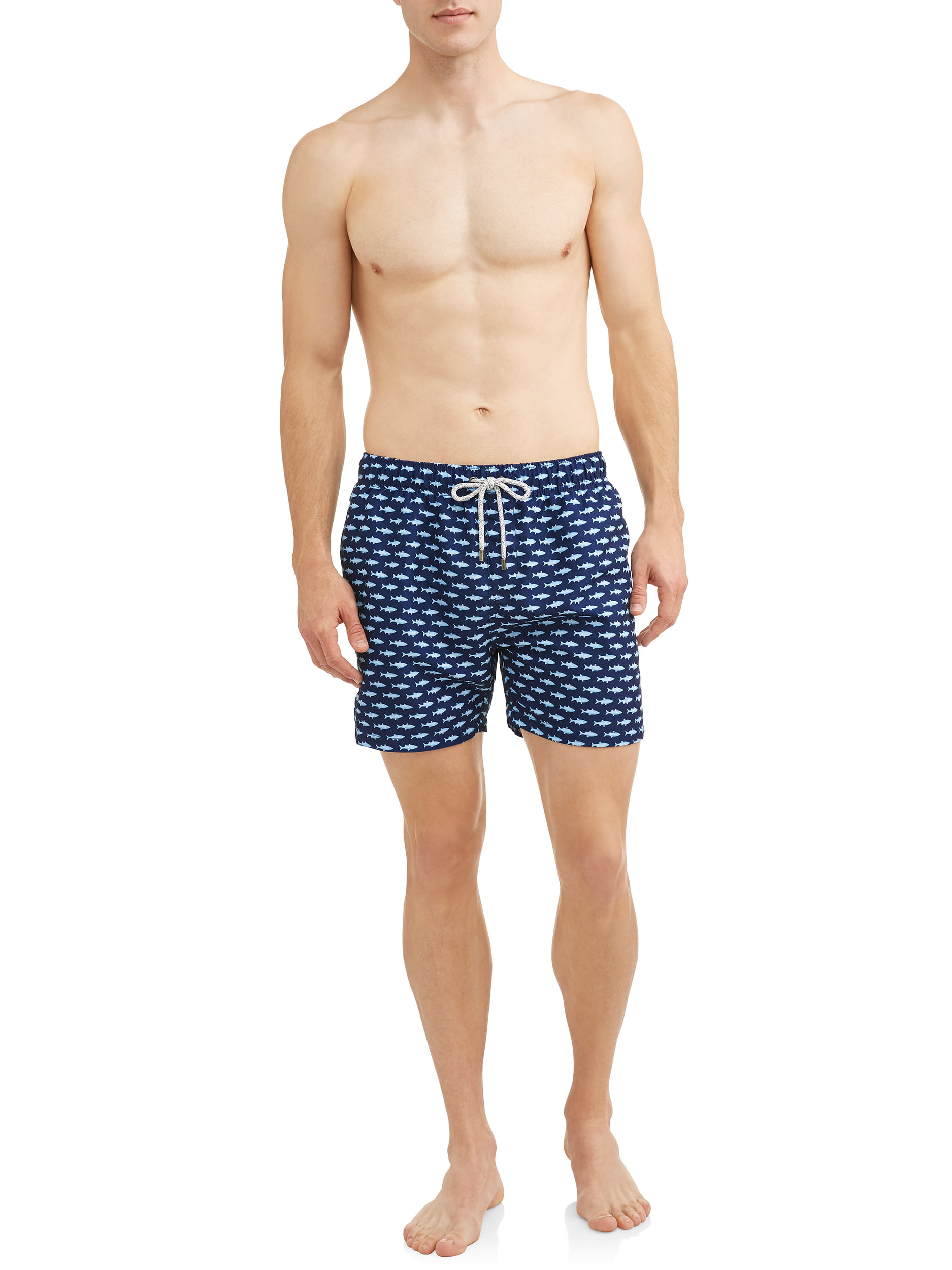 7af7c98c33 Endless Summer - Endless Summer Men's Printed Volley 5.5 Inch Swim Shorts.  Up to size 2XL - Walmart.com