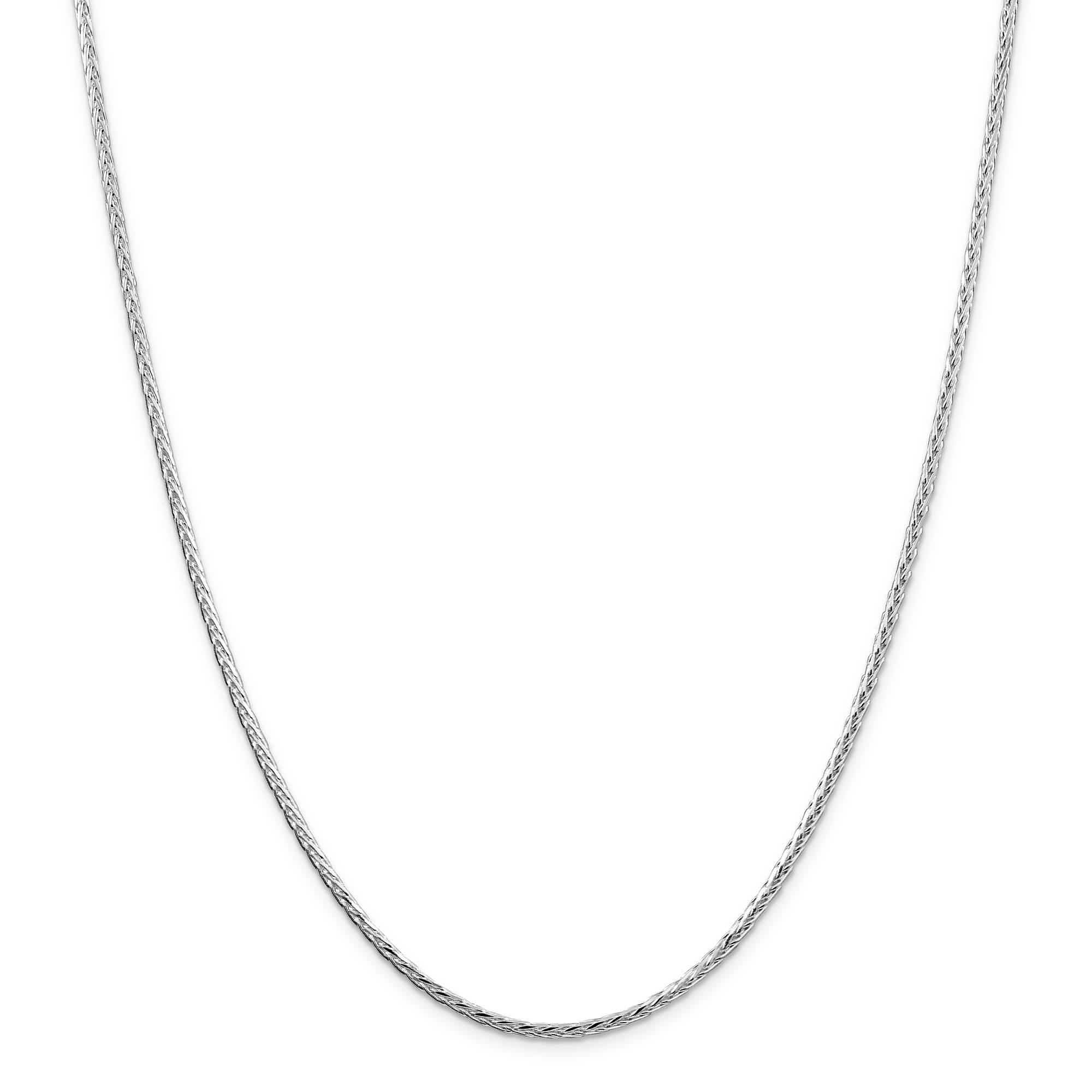925 Sterling Silver 2.5mm Spiga Chain Necklace 20 Inch Pendant Charm Wheat Fine Jewelry Gifts For Women For Her - image 5 de 5