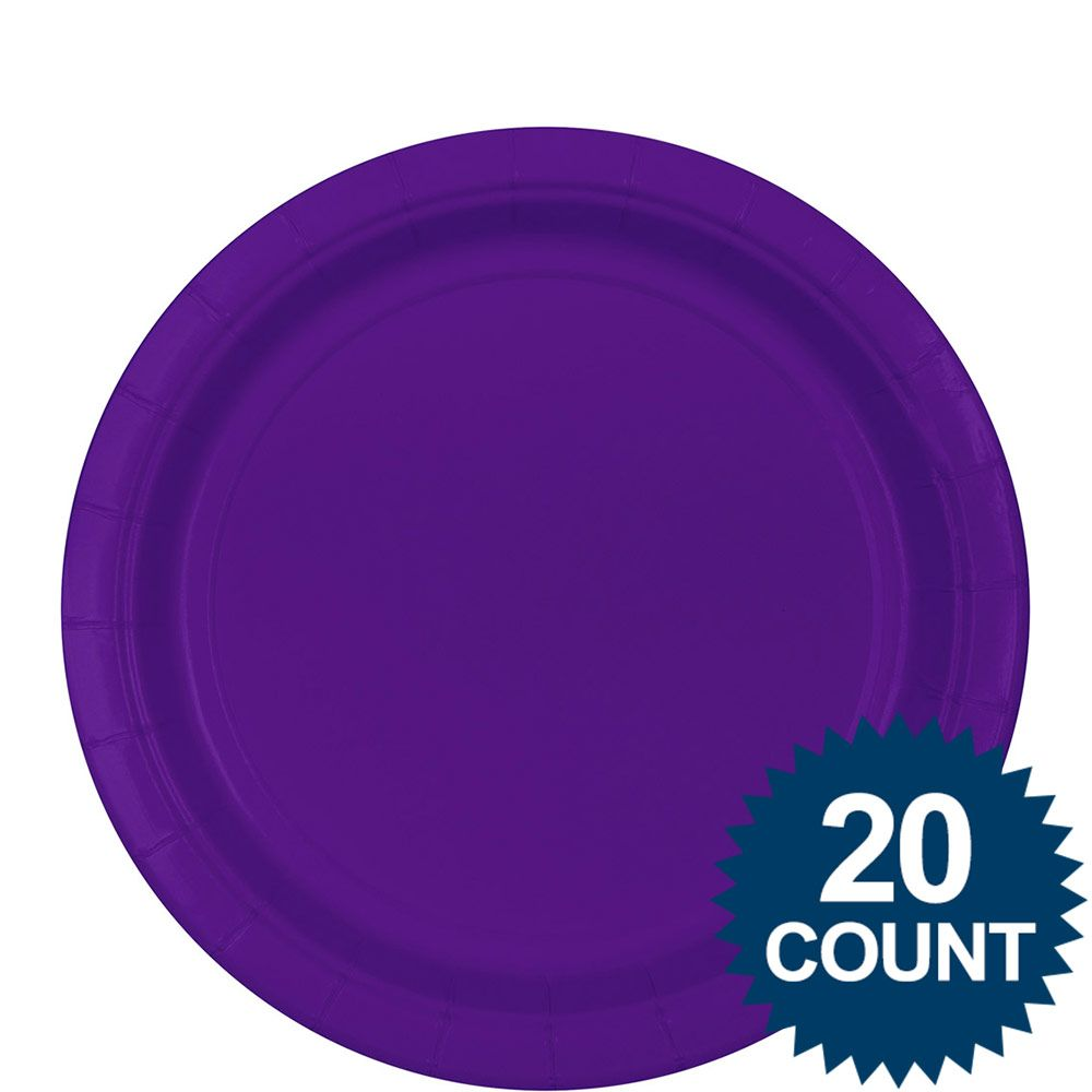 """Purple 9"""" Luncheon Plates (20 Pack) - Party Supplies"""
