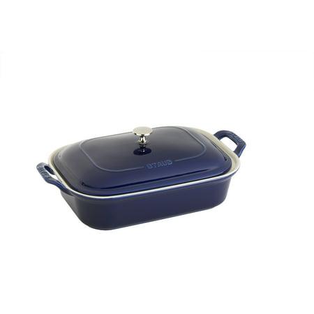 Staub Ceramic Rectangular Covered Baking Dish - Dark Blue 1/2 Inch Rectangular Baking Dish