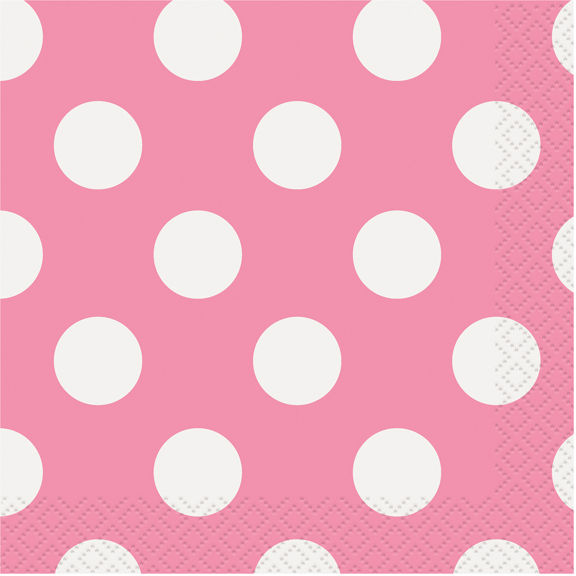 Hot Pink Polka Dot Beverage Napkins, 40pk