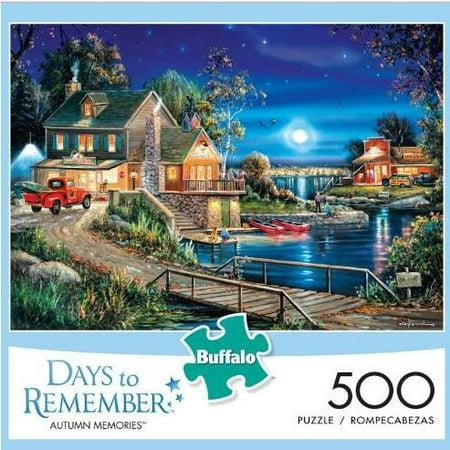 Buffalo Games 500 Piece Puzzle, Days to Remember: Autumn (Buffalo Gap Trade Days)