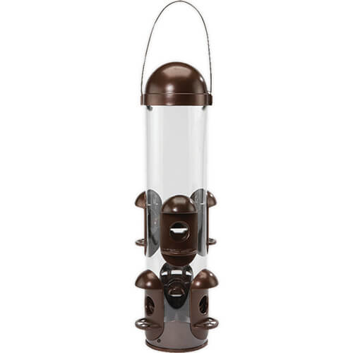 Pennington Squirrel-Resistant Wild Bird Seed Feeder, Holds 3 Pounds
