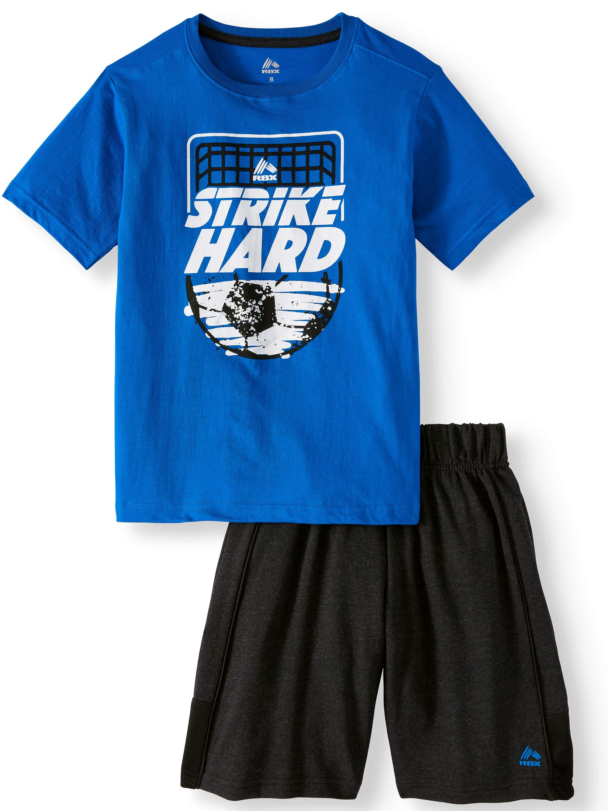 Graphic Cotton Tee and Mesh Shorts, 2-Piece Outfit Set (Little Boys & Big Boys)