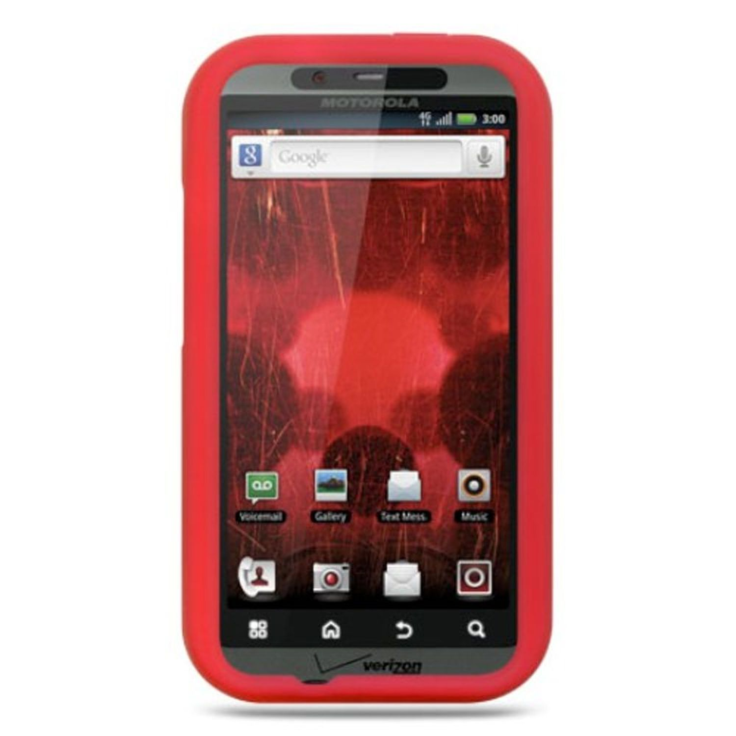 Motorola Droid Bionic XT875 Case, by DreamWireless Rubber Silicone Soft Skin Gel Case Cover For Motorola Droid Bionic XT875 Targa, Red