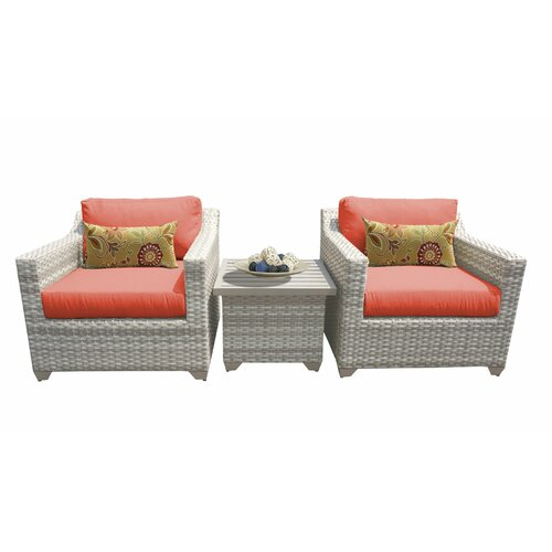 Sol 72 Outdoor Falmouth 3 Piece Seating Group with Cushions
