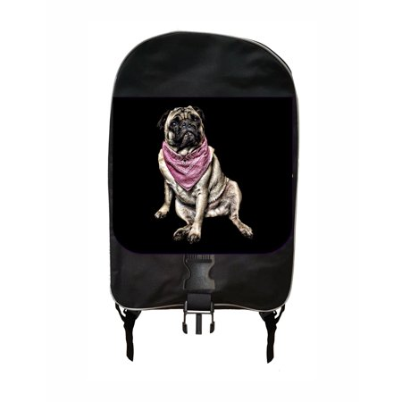 (Pug In A Bandana School Backpack)