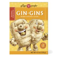 Gin Gins, Double Strength Hard Ginger Candy, 4.5 Oz