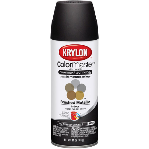 Krylon ColorMaster Brushed Metallic Satin Spray Paint