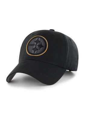 NFL Pittsburgh Steelers Black Mass Basic Adjustable Cap/Hat by Fan Favorite