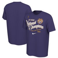 LSU Tigers Nike College Football Playoff 2019 National Champions Celebration T-Shirt - Purple