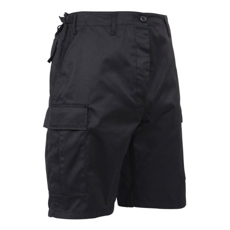 Button Fly Shorts (Rothco Zipper Fly BDU Combat Cargo Shorts, Black )