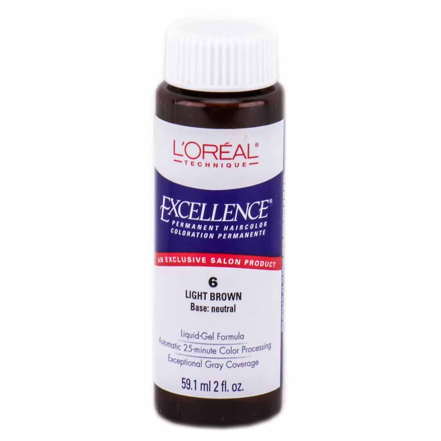 loreal matrix hair color l oreal excellence liquid gel permanent haircolor 9 1 l oreal excellence liquid gel permanent haircolor color 6 light brown walmart