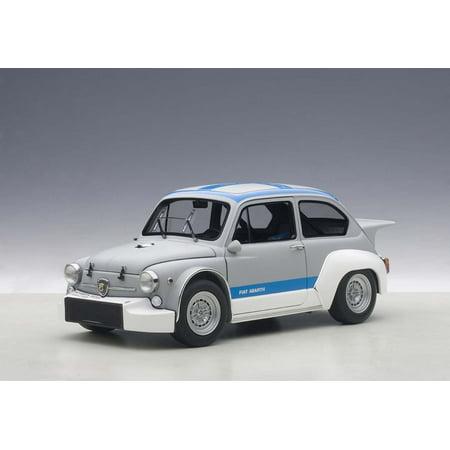 fiat abarth 1000 tcr matt grey with blue stripes 1/18 diecast model car by