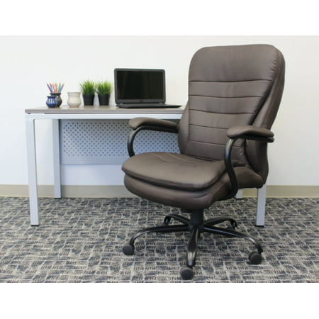 Boss Leather Chair - Boss Office Double Plush Leather Office Chair, Multiple Colors