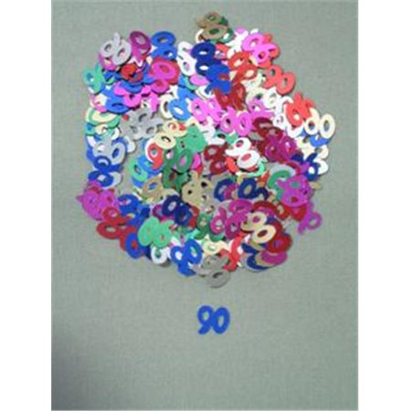 Party Deco 04090 10mm Multi 90 Confetti - Pack of 12