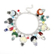 LEUCHTEND Anime My Hero Academia Multi Character Pendant Charm Bracelets&Bangles For Fans Souvenir Gifts Jewelry