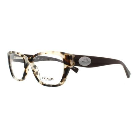 42dbd86b2c COACH Eyeglasses HC 6070 5325 Snow Leopard Tortoise Brown 51MM - Walmart.com