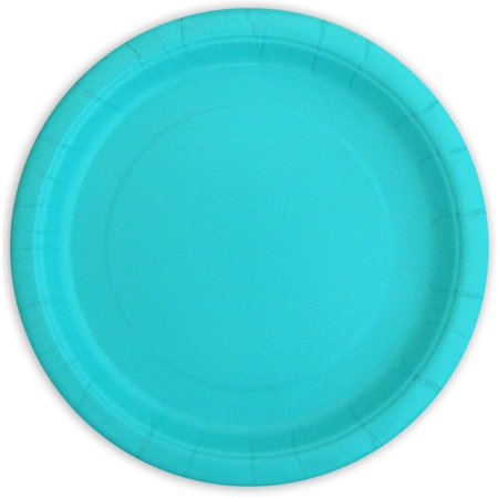 Way To Celebrate Paper Party Plates, Terrific Teal, 9in, 20ct
