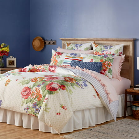 Lio Duvet Covers - The Pioneer Woman Beautiful Bouquet Duvet Cover, White