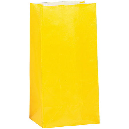 Bright yellow paper party favor bags 12pk walmart bright yellow paper party favor bags 12pk negle Image collections