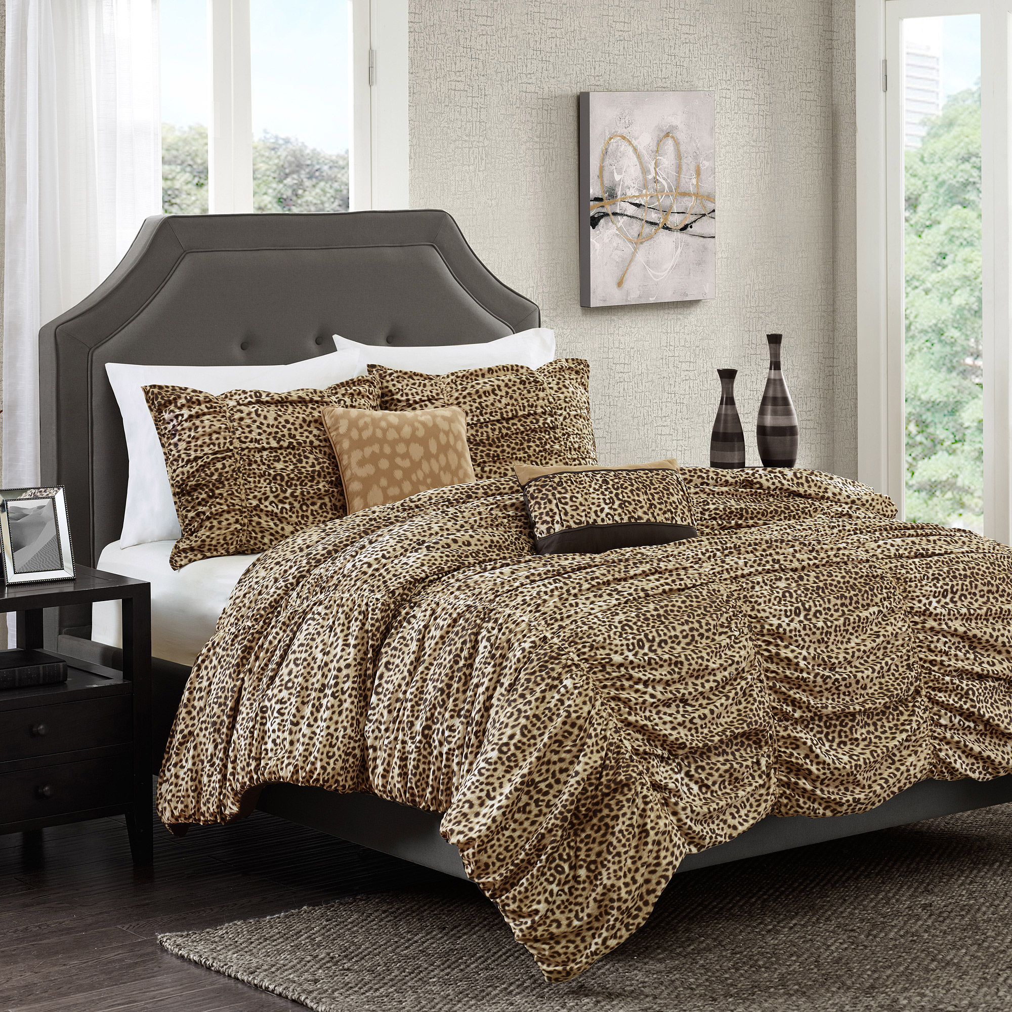 Better homes and gardens zahara 5 piece bedding comforter set walmart com