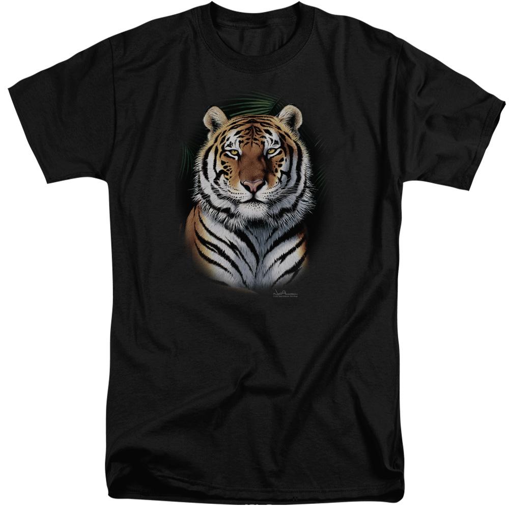 Wildlife Jungle Fire Mens Big and Tall Shirt
