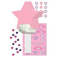 """Pack of 24 Pink and Purple Princess Party Wand Decorating Kit 10"""""""