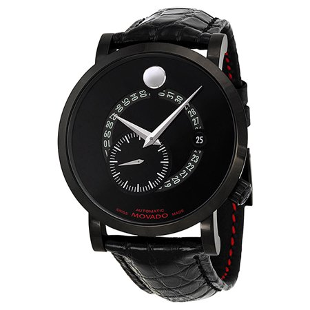 Red Label Automatic Animated Date Small Seconds Black Dial Mens Watch 0606485 Day Date Automatic Titanium Watch