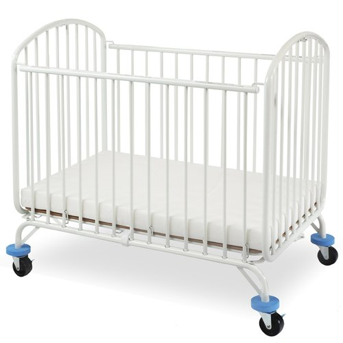 L.A. Baby Folding Arched Compact Folding Portable Crib with Mattress