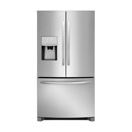 Frigidaire FFHD2250TS - Refrigerator/freezer - freestanding - width: 35.6 in - depth: 25 in - height: 70.1 in - 21.7 cu. ft - french style with ice & water dispenser - stainless steel