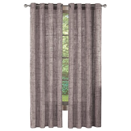 Linen Window Panel (Faux Linen Modern Sheer Curtain Panel with Grommet Top, 63