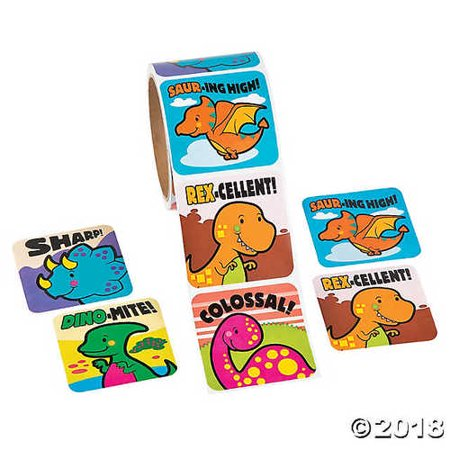 Jumbo Dinosaur Roll Stickers