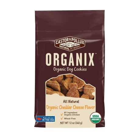 Castor And Pollux Organic Dog Cookies - Cheddar Cheese - Pack of 8 - 12