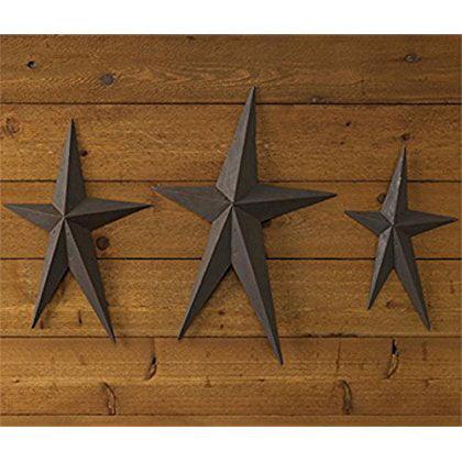 Park Designs Western Rivet Metal Stars Wall Decor Set Of 3