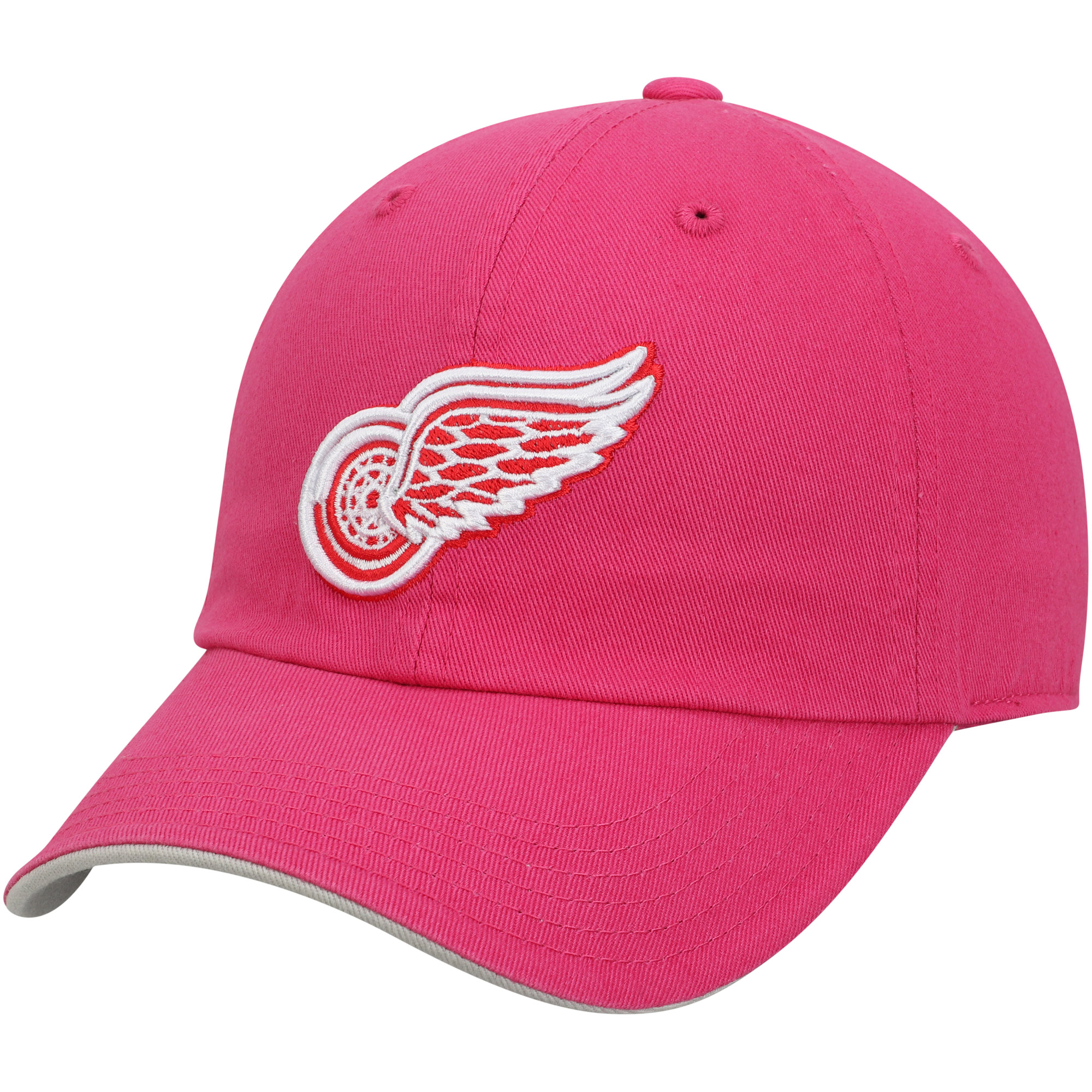 Detroit Red Wings Girls Youth Slouch Adjustable Hat - Pink - OSFA
