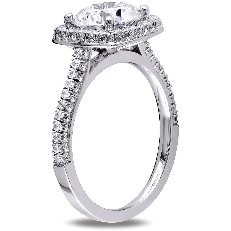 Miabella 5 Carat Tgw Cubic Zirconia Sterling Silver Halo Engagement Ring   Walmart