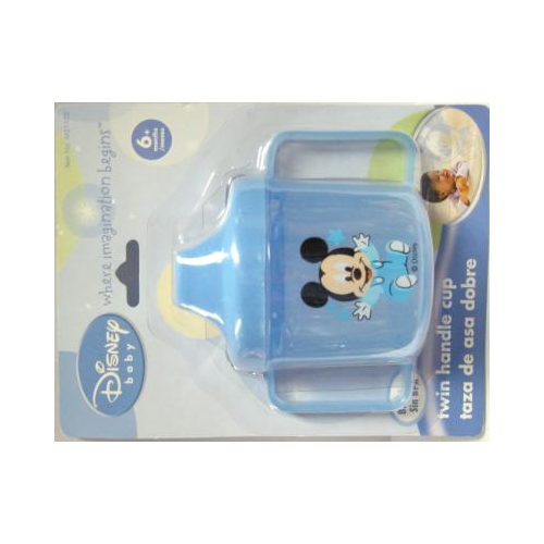 One Disney Baby Mickey, Mini, or Pluto Twin Handle Sippy Cup - Color May Vary, Contact Seller for Boy or Girl Colors