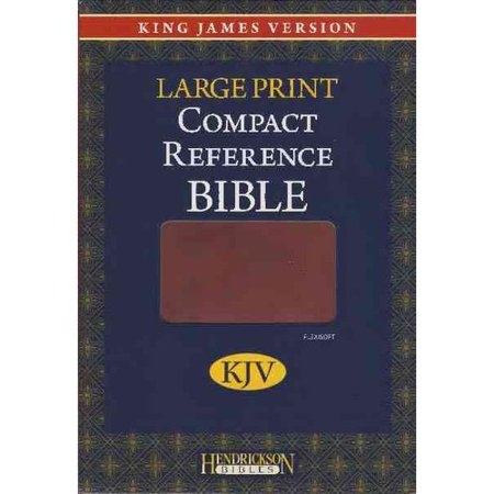 Holy Bible  King James Version  Espresso  Flexisoft  Large Print  Compact Reference