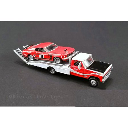 1969 Ford 302 - ACME 1:64 DDA COLLECTIBLES - ALLAN MOFFAT'S #9 1969 BOSS 302 TRANS AM MUSTANG WITH FORD F-350 RAMP TRUCK 51139