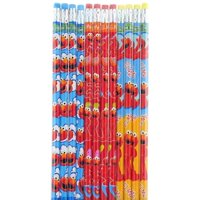 Party Favors Sesame Street Elmo Character Authentic Licensed 24 Wood Pencils Pack…