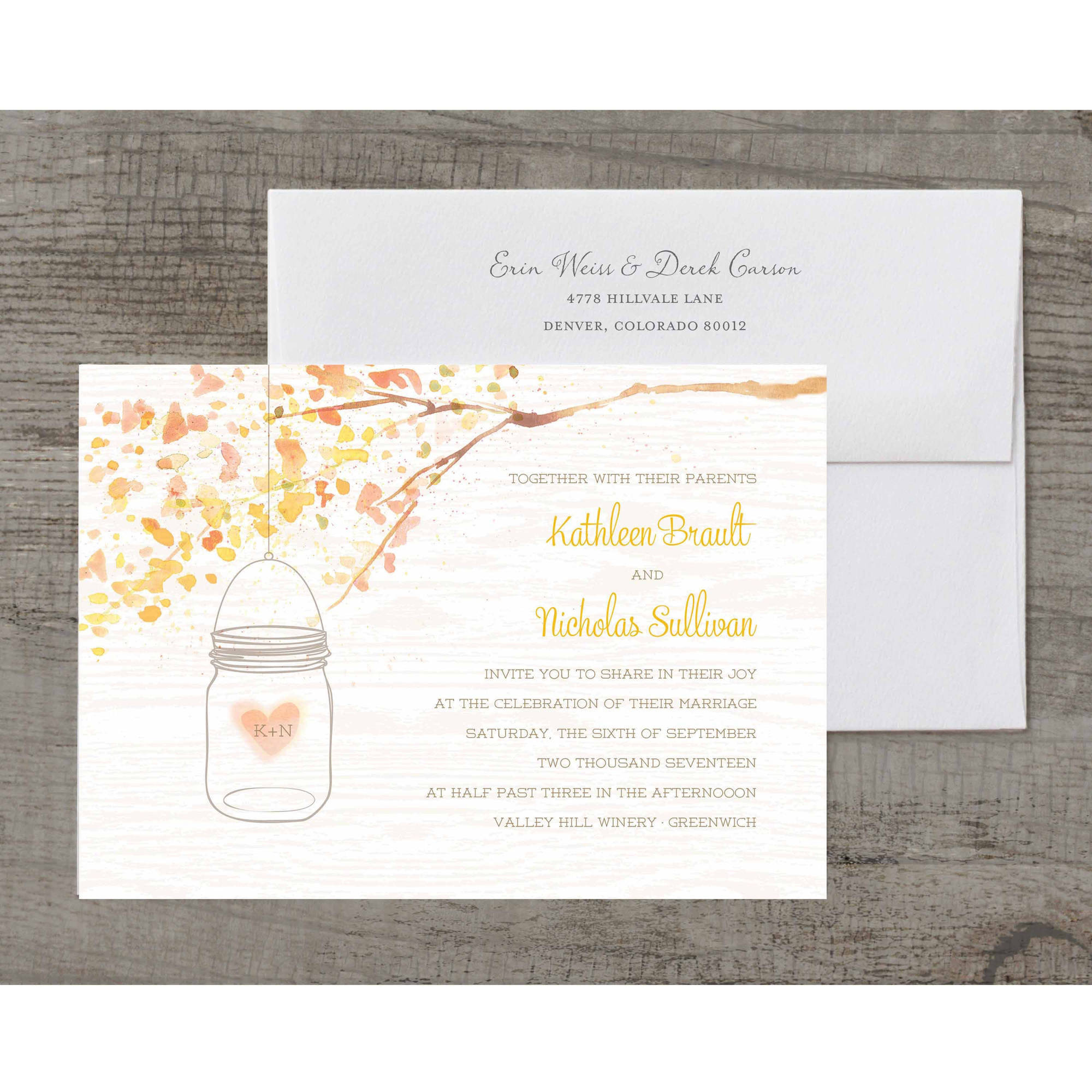 Jar of Love Deluxe Wedding Invitation